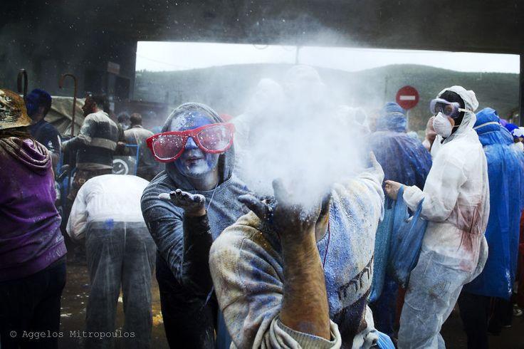 I Participated In A Colored Flour War In Galaxidi