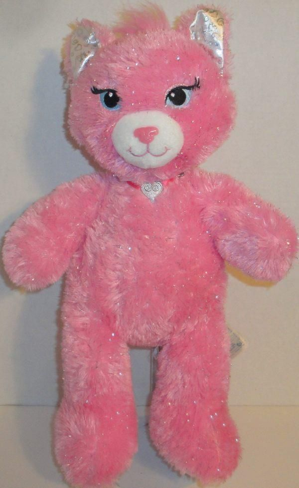 1bd222d8fb9 BUILD A BEAR FUREVER PRINCESS FRIENDS SPARKLE PINK KITTY CAT 17
