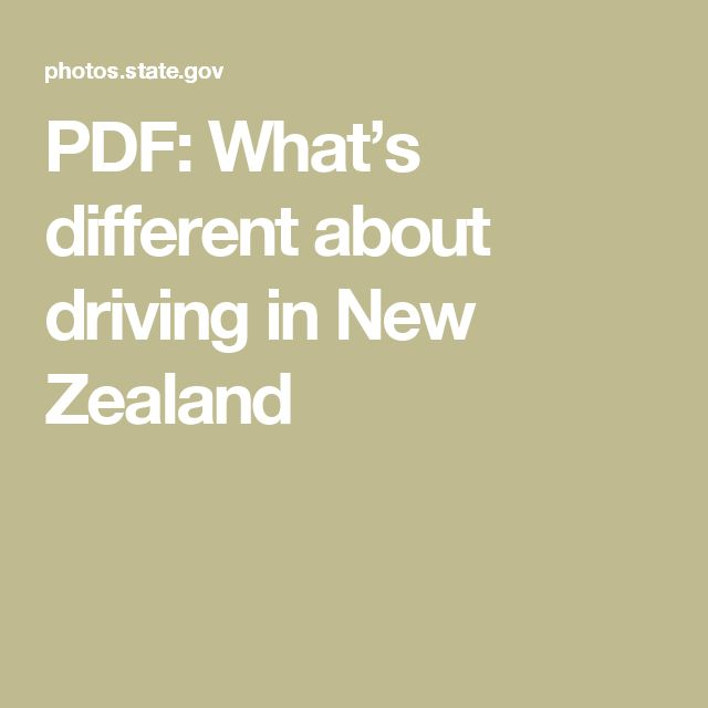 PDF: What's different  about driving in  New Zealand