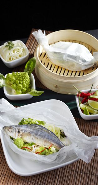 Steamed Mackerel with Three Cabbages