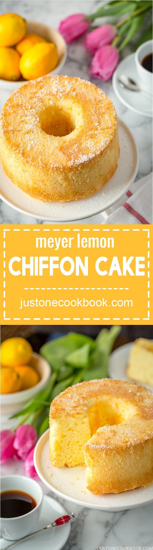 Meyer Lemon Chiffon Cake | Easy Japanese Recipes at JustOneCookbook.com