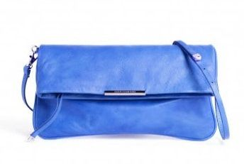 Queen Letizia blue Adolfo Dominguez fold-over clutch