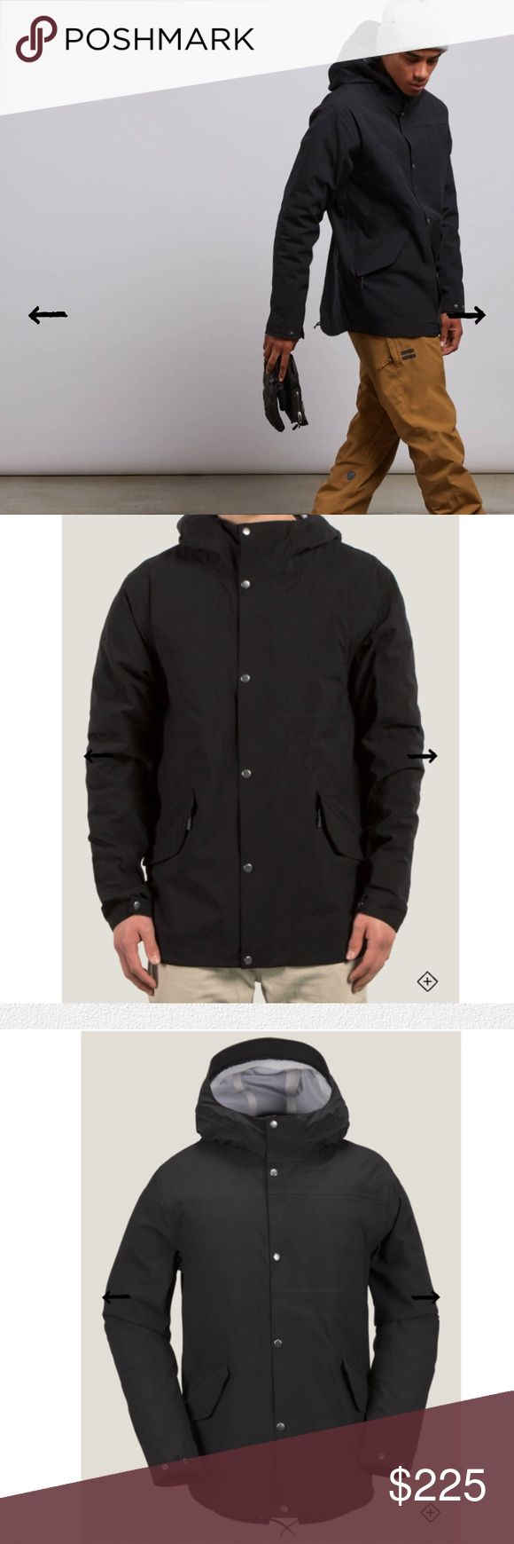 Volcom Lane TDS Parka Brand new - tags on! Material description in final picture. Perfect for cold weather layering. Men's snow parka with infrared thermal panels with down fill to strategically cycle body warmth. 4-way stretch for maximum mobility. Zippered vents release heat for quick cool downs. Droptail fit for extended coverage. 10000MM weather coating. Duck down fill. Padded lining. Hidden zippered chest pocket. Zipper features built in whistle. Shields rain and snow. Listed on…