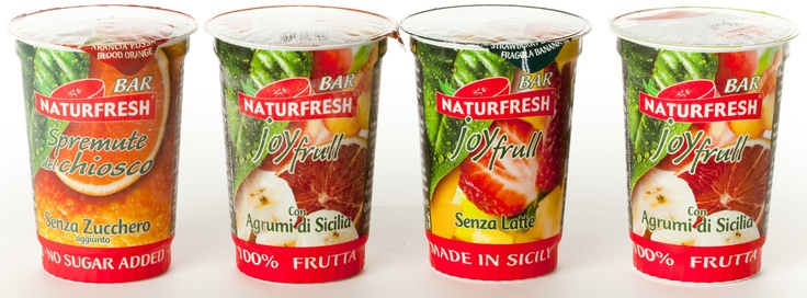 Sicilian Juices - 200ml Cups  Blood Orange; Mango/Banana; Strawberry/Banana; Strawberry/Peach