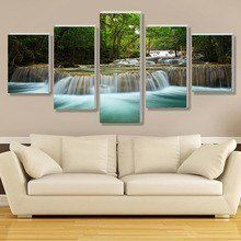 5 Panel Waterfall Painting Canvas Wall Art Picture Home Decoration Living Room Canvas Print Painting--Large Canvas Art Unframed Be the first to review this item