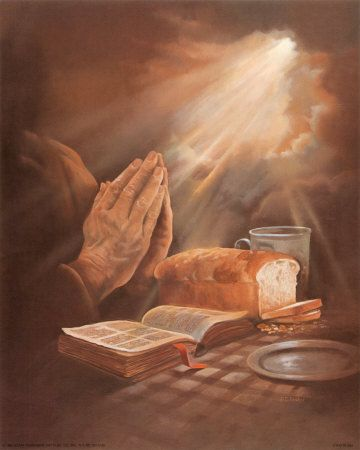 Image result for Praying hands with bread picture