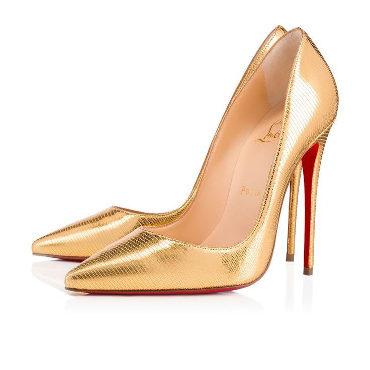 SO KATE LAMINATO DINO 120 Gold Specchio/Laminato - Women Shoes - Christian Louboutin