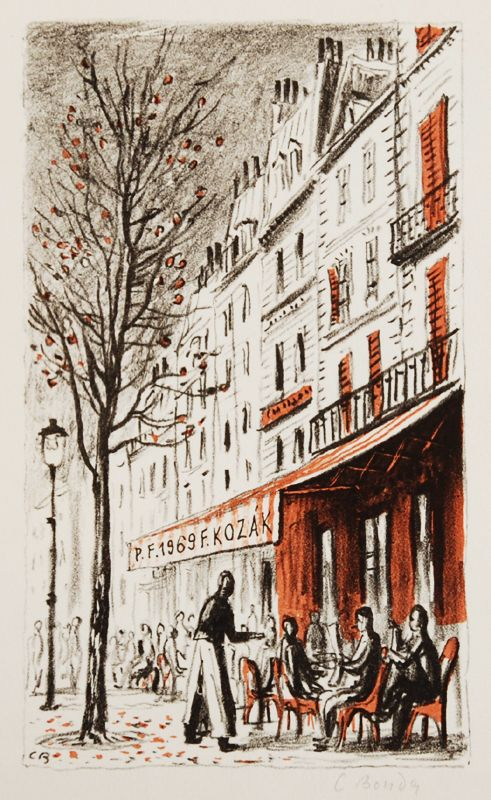 Coffeehouse, Cyril Bouda. (1901 - 1984)