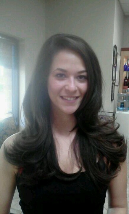 Long Layered haircut, blowout with SFactor products. By Joanne!!!!   Joanne Dashiell   Pinterest ...