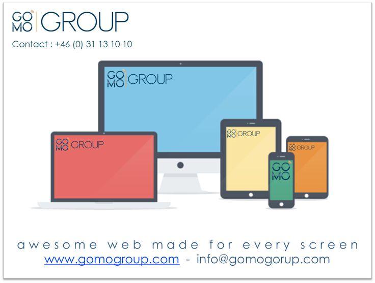 GOMO Group är ledande i Sverige på att utveckla mobila webbplatser. GOMO tillhandahåller tjänster inom mobil hemsidor responsive design. Vi stödjer även digitala strategier och marknadsföring.