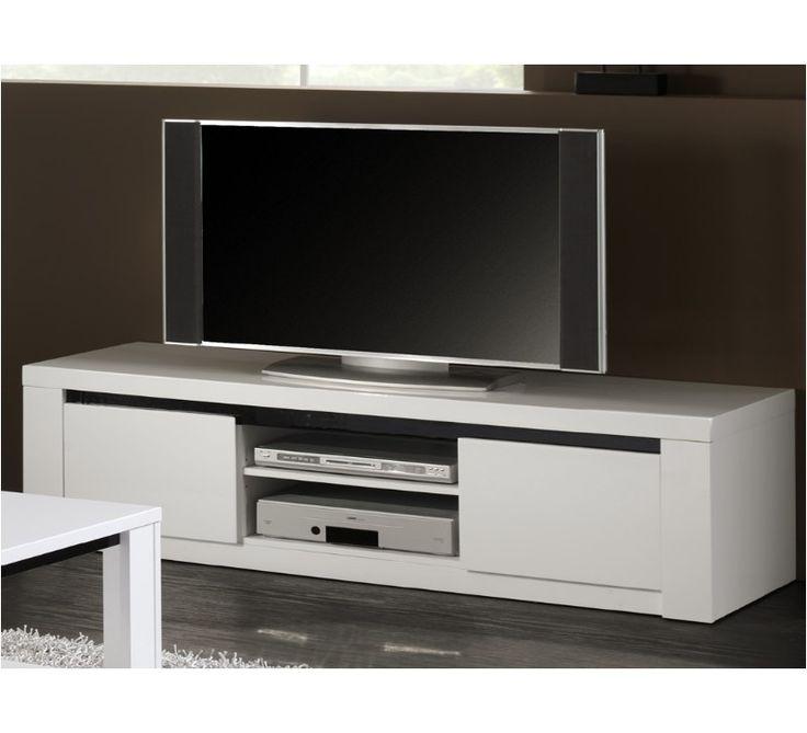 redoutable meuble tv blanc noir laqu - Meuble Tv Blanc Ancien