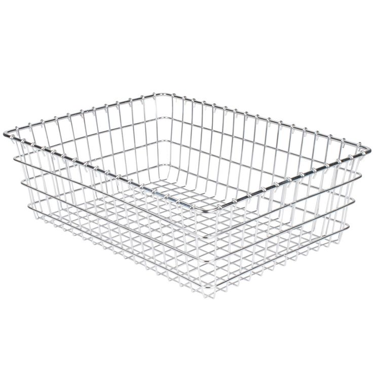 "This Choice 18"" x 24"" chrome wire bagel basket will allow you to clearly display, store, and transport bagels, pastries, rolls, or other bulk baked goods at your bakery, deli, or cafe. Its heavy duty nickel chrome wire construction means it can stand up to years of heavy use, and its wrapped edges allow for safe handling. <br><br><b><u>Overall Dimensions:</b></u> <br>Length: 24"" <br>Width: 18"" <br>Height: 8&qu..."