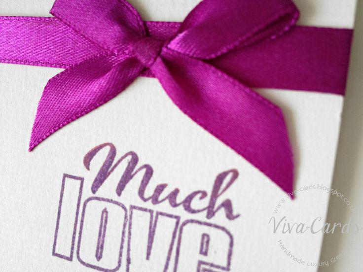 042 - Rainbow Stars - Card -'Much Love'