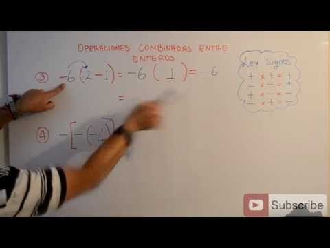Operaciones entre Enteros | Clases gratis de Matemáticas - YouTube