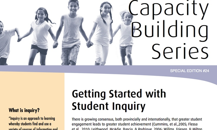 Getting Started with Student Inquiry from Ontario Ministry of Education document.  May help get the ball rolling in your classroom.