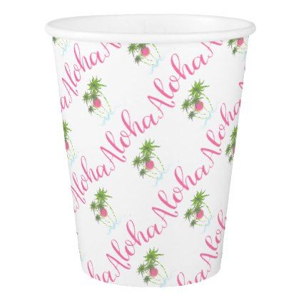 #Aloha-Beaches Hawaiian Style Vacation Cool Paper Cup - #drinkware #cool #special