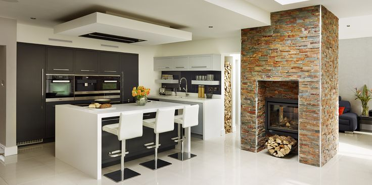 A harvey jones linear kitchen with built in appliance bank for Kitchen set 4 x 3