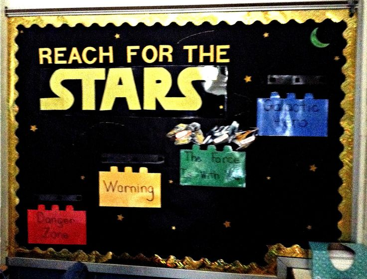 Star Wars Lego Bulletin Board to Track Behavior Blue - Galactic Hero Green - The Force is With You Yellow - Warning Red - Danger Zone