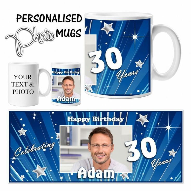 Large 10oz Rhino Coated Mug #Personalised with your text and Photo Makes a perfect #Birthdaypresent for friends or family Create a fun gift suitable