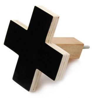 Coming Soon :: Cross Wall Hook - Large Black -