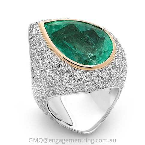 An unbelievable example of what can be achieved when remodelling your old jewellery by GMQ@engagementring.com.au