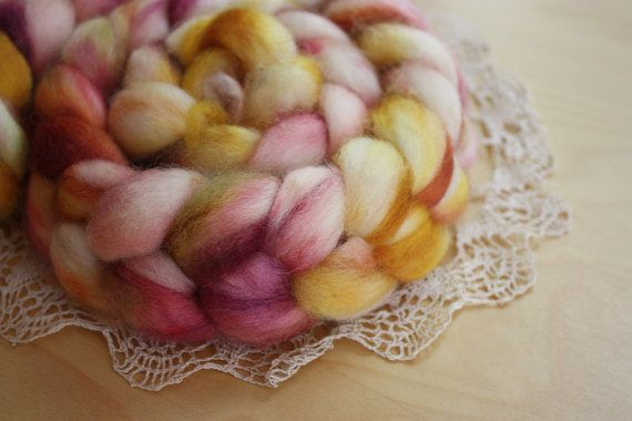 Super soft roving, hand dyed by Phydeaux, perfect for spinning or felting! What would you spin/felt with this? :)