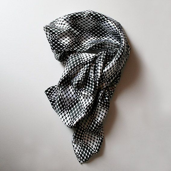 Modern and cute satin silk scarf. by MisBaratijas on Etsy