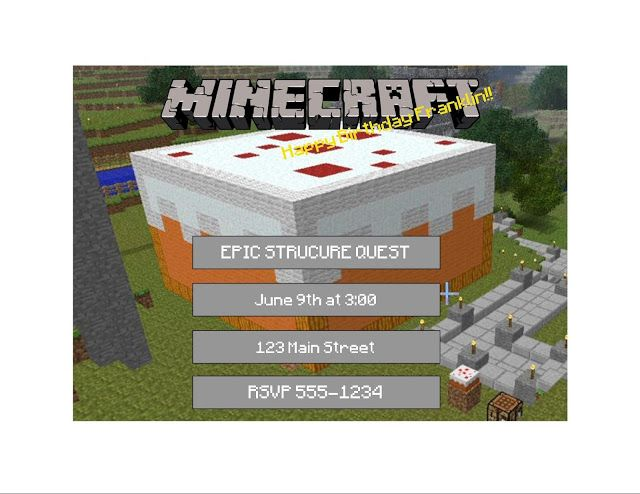 The Epic Structure Quest   Great party ideas, games, crafting table, etc