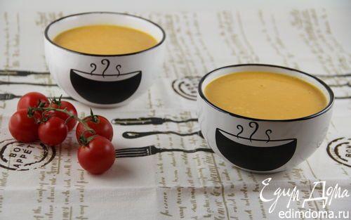 Тыквенно-морковный суп-пюре с кокосовым молоком и имбирем | Кулинарные рецепты от «Едим дома!»