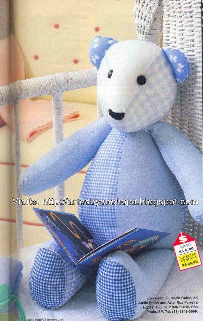 Ursinho de tecido #pap  #teddy #tutorial