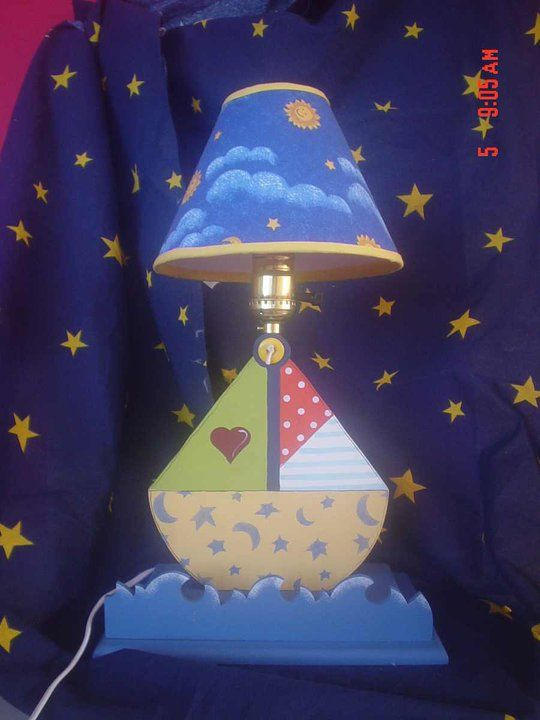 Boat lamp fpr boy room decor