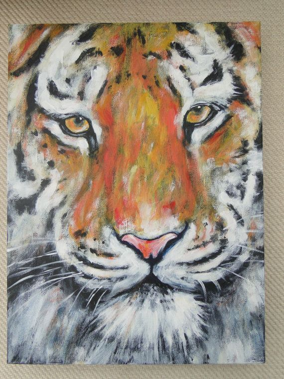 Best 25 paintings on canvas ideas that you will like on for Easy acrylic animal paintings