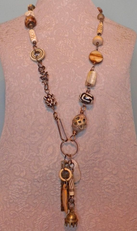 Mixed Media Jewelry Talisman Necklace by Tamara Ruiz by TamaraRuiz, $75.00