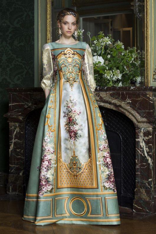 """couture, f15. Designer: Alberta Ferreti. 18th Century Inspired. """"Rock-a-Rococo"""""""