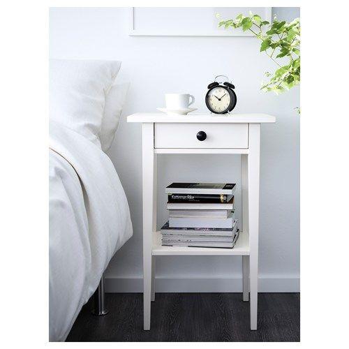 HEMNES komodin beyaz vernik 46x35x70 cm | IKEA Yatak Odaları