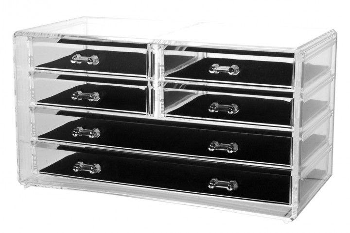 acryl schmuckkasten mit 6 schubladen 89 90 schmuckaufbewahrung jewelryorganizer ladybutler. Black Bedroom Furniture Sets. Home Design Ideas