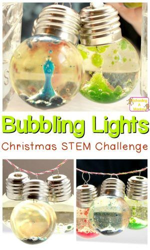 Love Christmas? Love science? Combine the two and make these Christmas science bubbling Christmas lights for pretty, holiday fun!