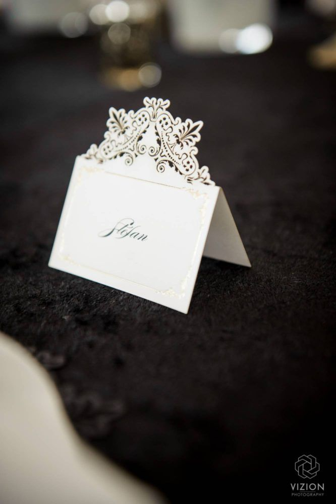 Elize & Stefan Real Wedding Showcase - The Aleit Group  Wedding stationery. Placecards. Secret Diary. Wedding photos. Vizion Photography and Films. Laurent Venue.