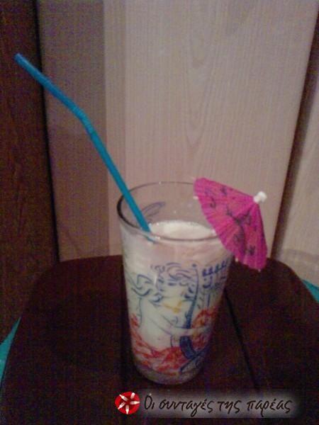 Smoothie πεπονιού με κομματάκια καρπούζι #sintagespareas