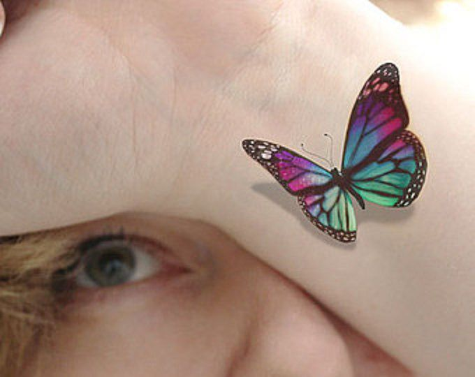 3D Blue Butterfly - realistic shadow - looks like it has just landed on your skin and looks just like the pictures  Size of the tattoo sheet is 3 by 2.5 inches These temporary tattoos can be placed anywhere on the body and will last up to 7 days on the body if placed on the body where clothes will not excessively rub the tattoo.  Quality and customer satisfaction are very important at Tattoomint, if for any reason you are not satisfied with your order please contact us…
