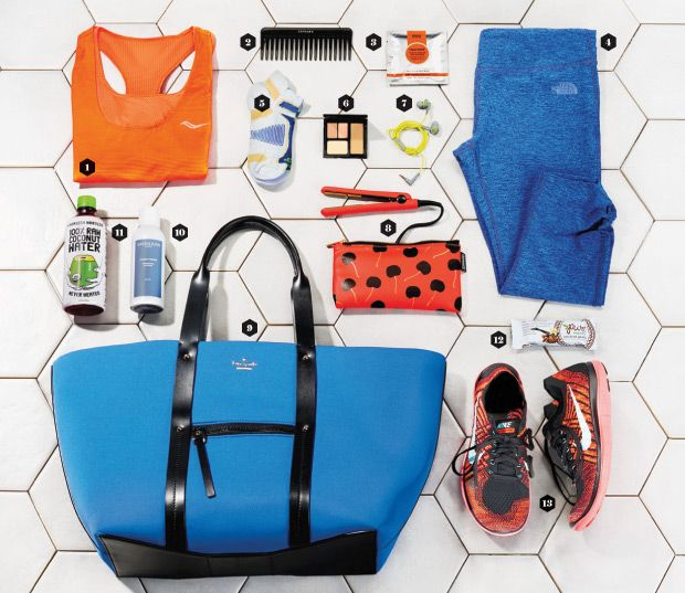Gym Essentials for a Midday Workout: Freshen up in a flash and get right back to business.