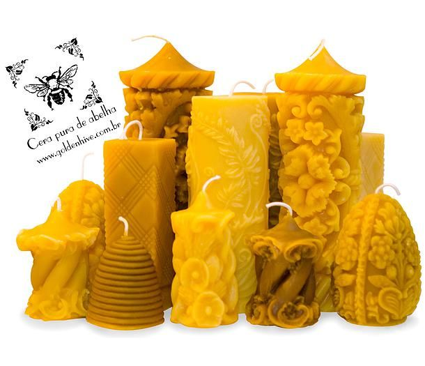 Velas de Cera Pura de Abelha! Beeswax Candles                              …