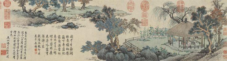 Shen Zhou : 盆菊幽賞圖 (Liaoning Provincial Museum, Shenyang) 1427-1509 沈周