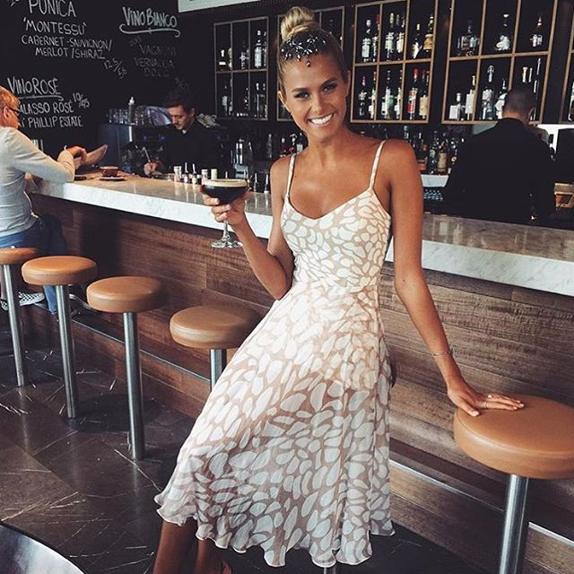 How beautiful is @natalie_roser at Stakes Day today in the Ashleigh Headpiece and Kendra Dress, hitting stores in a few weeks! Xx #kookai