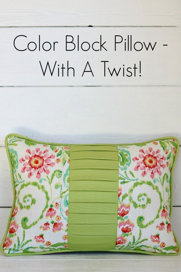 Color Block Pillow from NewtonCustomInteriors.com. Learn how to make this sharp pillow out of fabric scraps. Detailed step-by-step sewing tutorial!