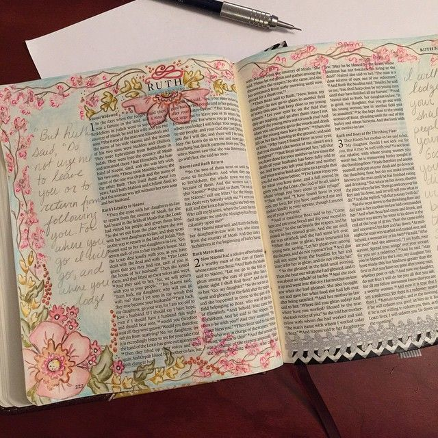Bible journaling Ruth1:16&17 Naomi and Ruth are beautiful examples of unconditional love and loyalty to each other and God. #illustratedfaith #biblejournaling #bibleart
