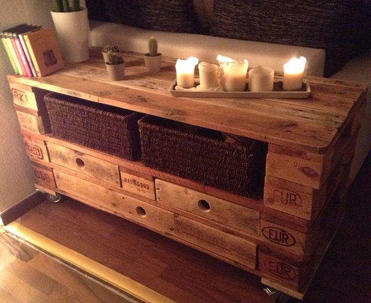 Sideboard aus europaletten  23 besten Tische aus Paletten - Tisch aus Europaletten ...