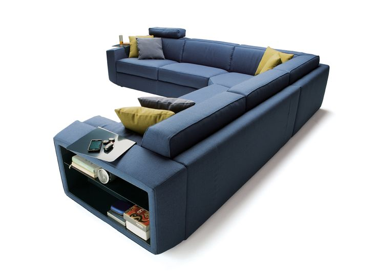 Leather Sectional Sofa Bed sofa modular contemporary indoor MELVIN by Alessandro Elli Milano Bedding