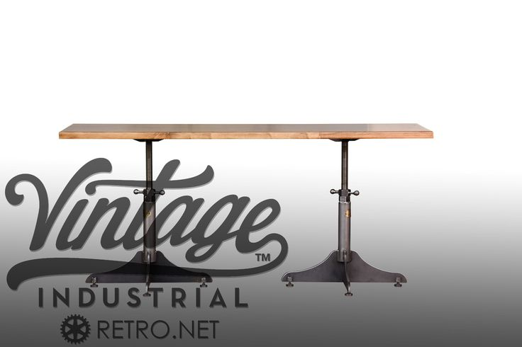 The Whatever Sit Stand Desk by Vintage Industrial Furniture