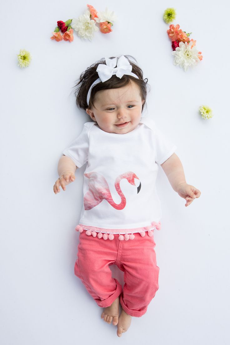 Organic Flamingo Tee with Pompoms! http://www.thislittle.boutique/#!shop/ccy